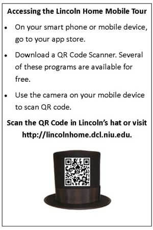Instructions to access the Lincoln Home Mobile Tour