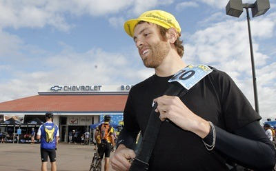 NIU sociologist Jeffrey Kidder during his days as a bicycle messenger.