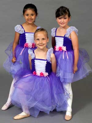 Pre-ballet students from the NIU Community Dance School.