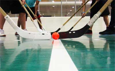 Photo of indoor floor hockey