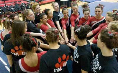 NIU Huskies gymnastics team