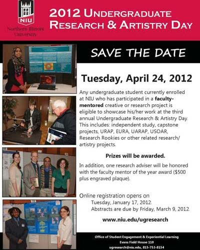 2012 Undergraduate Research & Artistry Day poster