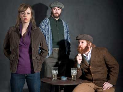 "MFA in acting candidates Charlotte Fox (Valerie), Jacob Smith (Jim) and Bill Gordan (Jack) appear in the upcoming School of Theatre and Dance mainstage production of ""The Weir"" by Conor McPherson."