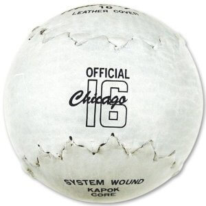 An official Chicago 16-inch softball