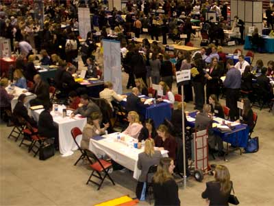 NIU career fair crowd
