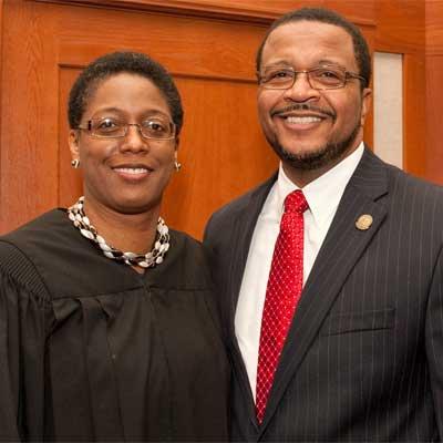Huskie sweethearts: the Hon. Sharon Coleman and new NIU Trustee Wheeler G. Coleman