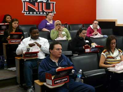 Photo of participants in a grad school prep seminar