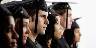 Photo of a diverse group of college graduates
