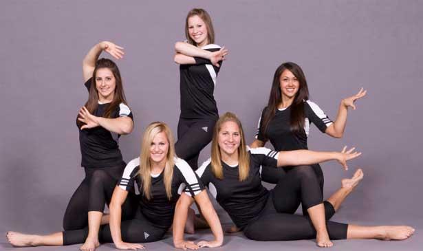 NIU gymnastics team seniors