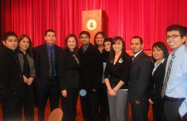 Members of the Dr. Adela de la Torre Honor Society