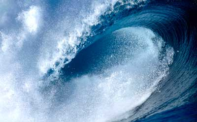 Photo of a tidal wave