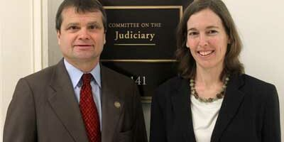 Illinois Congressman Mike Quigley (D-Chicago), who sits on the House Judiciary Committee-Subcommittee on the Constitution, heard NIU Law professor Amy Widman's testimony.