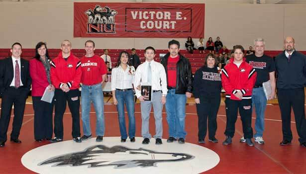 Recognition of Huskie senior wrestlers