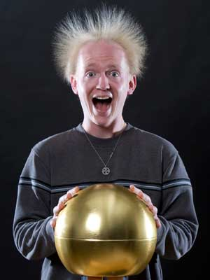 STEM Outreach's Van de Graaf generator will be on display at Monday's Electrify Your Mind kickoff party.