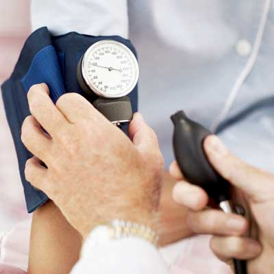 Photo of a blood pressure exam