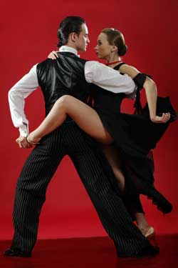 Photo of a couple dancing the tango