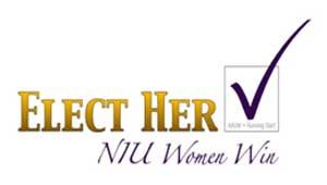 Elect Her - NIU Women Win logo