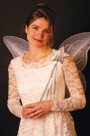 Photo of a woman costumed as a fairy
