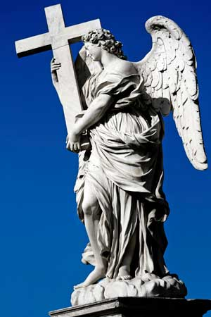 Bernini angel sculpture in Rome