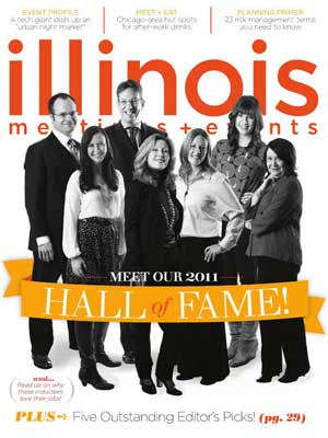 Cover of Illinois Meetings + Events magazine