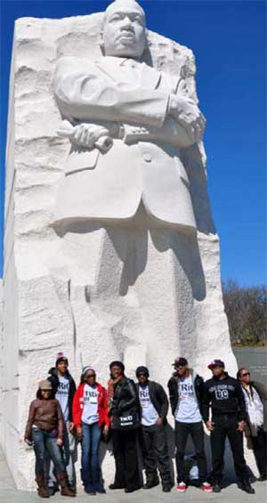 TRiO scholars visit the Martin Luther King, Jr. National Memorial.