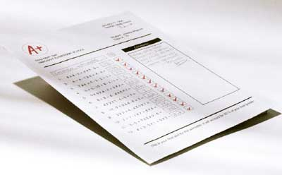 Photo of a report card