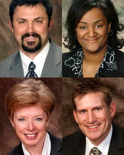 Supportive Professional Staff 2012 Presidential Awards for Excellence winners: Todd Latham, Michele Pickett, Deborah Pierce and Jason F. Rhode