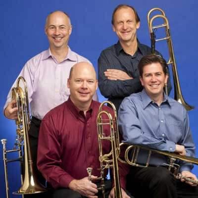 Northwestern University faculty trombone quartet