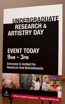 Undergraduate Research & Artistry Day sign