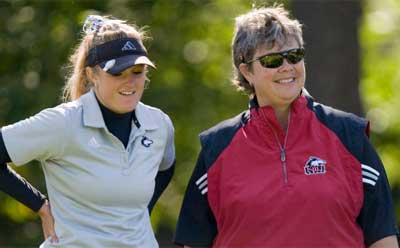 Allie Parthie and Coach Pam Tyska