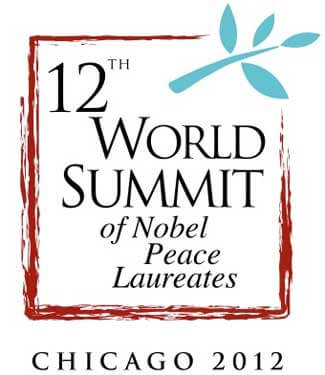 Logo of the 12th World Summit of Nobel Peace Laureates - Chicago 2012
