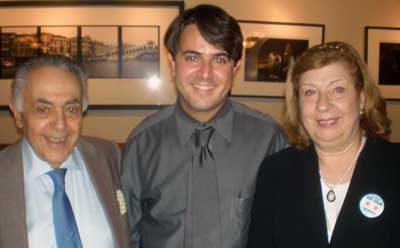 Federico Sciammarella and his parents, Cesar and Esther.