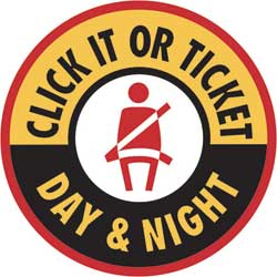 NHTSA logo: Click It or Ticket Day & Night