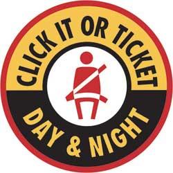 NHTSA logo: Click It or Ticket Day & Night