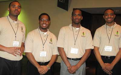 From left: Collan Davidson, Solomon Mason, Anthony Patton and Anthony Boyd.