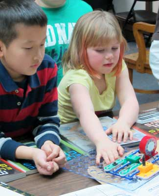 As part of the Bright Futures program, electricity kits like this Snap Circuit activity kit are now available to DeKalb Public Library patrons.