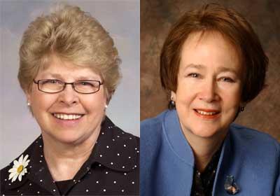 Sally Conklin and Brigid Lusk