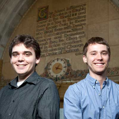 Vincent Schramer and Mitch Downey