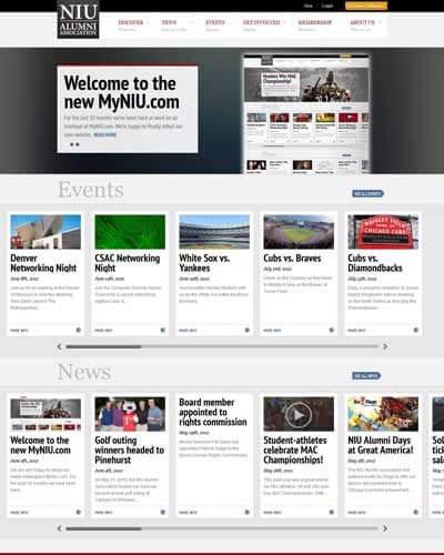 Alumni association unveils new website design niu today for News section design