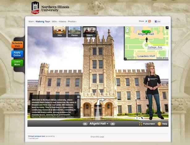 Screen capture of NIU virtual tour