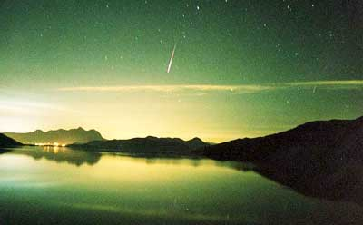 STEM Café attendees will get a chance to view the Perseid Meteor Shower, which occurs every August when Earth passes through the tail of the Swift-Tuttle comet. Image courtesy of nasaimages.org