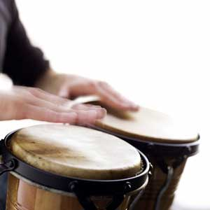 Photo of hands playing drums