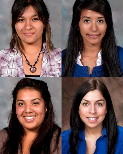 Clockwise from top left: Elaine Rodriguez, Noemi Rodriguez, Emily Prieto and Guadalupe Lopez.