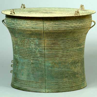 Bronze drum (Burma/Mayanmar), NIU Burma Art Collection