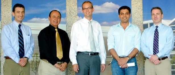 From left: Jes Cisneros, Promod Vohra, Nicholas Pohlman, Omar Ghrayeb and Chris Jones