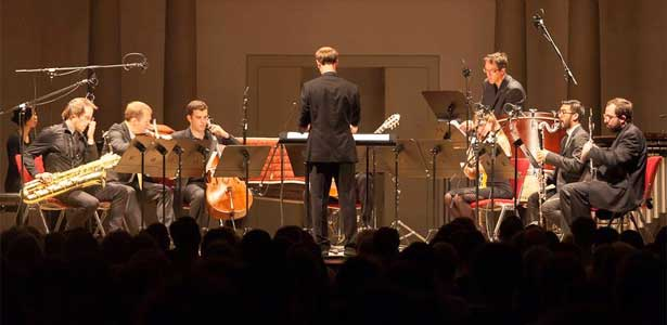 Dal Niente performs a world premiere by Evan Johnson at L'Orangerie as part of the 46th Internationales Musikinstitut Darmstadt.