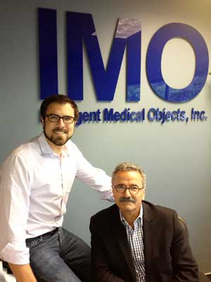 Matt Cardwell (left) and Frank Naeymi-Rad, CEO and chairman of the board at IMO.