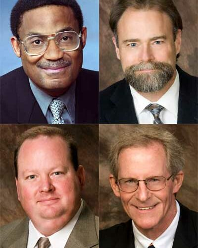 Clockwise from top left: Eddie Williams, Steve Cunningham, Bill Nicklas and Jeff Daurer.