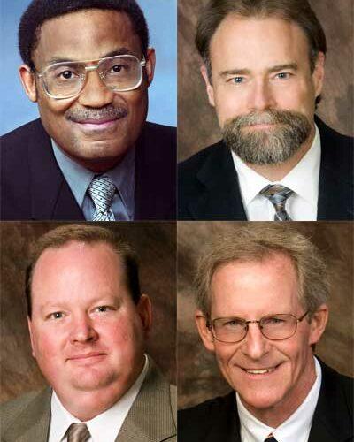 Clockwise from top left: Eddie Williams, Steve Cunningham, Bill Nicklas and Jeff Daurer.