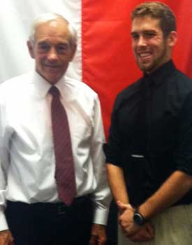 NIU D.C. intern Jesse Ruter had an opportunity to meet U.S. Rep. Ron Paul.
